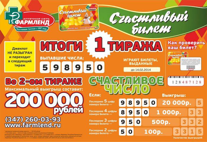 Как купить билет и играть в лотерею «счастливый билет»
